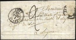 O Lettre Taxée à ''2'' Et Détaxée Portant Un Restant Du 20c. Noir Obl. Du CàD De TULLE Du 1er Janvier 1849 à Destination - 1849-1850 Ceres