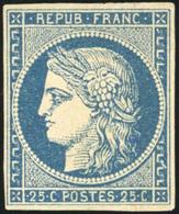 * 25c. Bleu. TB.(cote : 8500) - 1849-1850 Cérès