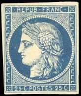 * 25c. Bleu. Belles Marges. SUP.(cote : 8500) - 1849-1850 Cérès