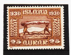 POL1809 ISLAND 1930  Michl 313 (*) FALZ SIEHE ABBILDUNG - Ungebraucht