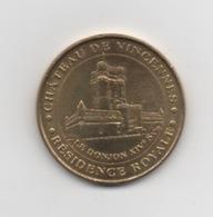 JETON TOURISTIQUE . Monnaie De Paris . Château De Vincennes . Résidence Royale . 2008 . - Monnaie De Paris