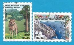 Italien / Italia 1999 Mi.Nr. 2620 / 2621 , EUROPA CEPT - Natur-und Nationalparks - Gestempelt / Fine Used / (o) - 1999