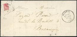 O 1/4 Du 80c. Rose Obl. S/lettre Frappée Du CàD De CLERVAL Du 13 Avril 1871 à Destination De BESANCON. Cette Lettre Prov - France