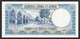 SYRIA  P.  89a 25 P 1958 UNC - Syria