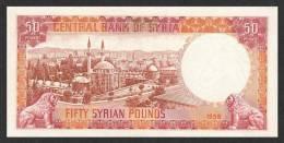 SYRIA  P.  90a 50 P 1958 UNC - Syria