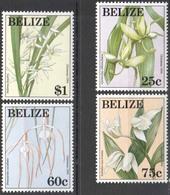 MBP-BK26-529 MINT ¤ BELIZE 1994 4w In Serie ¤ FLOWERS OF THE WORLD - FLEURS - BLÜMEN - BLOEMEN - FLORES - Orchideeën