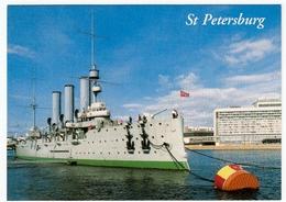 NAVI - BARCHE - St. PETERSBURG - THE CRUISER AURORA - L'INCROCIATORE AURORA - Vedi Retro - Guerra