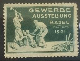 SWITZERLAND 1901 Vignette Cinderella Gewerbe Ausstellung Basel - Cinderellas