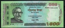 BANGLADESH P58f  500 TAKA 2016 UNC. - Bangladesh