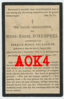 RENE EMIEL D'HESPEEL MARKE 1882 1917 Doodsprentje 54 Pierrepont Zivilarbeiter ZAB 55 Meuse Bouligny Kortrijk Amermont - Images Religieuses