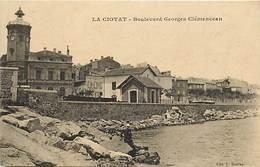 -dpts Div-ref-AJ153- Bouches Du Rhône - La Ciotat -bd Georges Clemenceau - Gare - Train -trains - Ligne De Chemin De Fer - La Ciotat