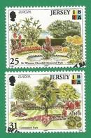 Jersey 1999 Mi.Nr. 885 / 886 , EUROPA CEPT Natur- Und Nationalparks - Gestempelt / Fine Used / (o) - 1999