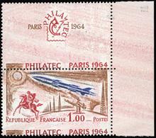 ** 1Fr. Philatec Paris 1964. Fond Rose Et Piquage à Cheval. CdeF. SUP.(cote : 0) - France