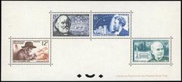** Bloc Spéciaux Fabre, Tellier, Flammarion, Sabatier. SUP.(cote : 1200) - Sheetlets