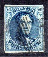 Sello Nº 4 Belgica - 1849-1850 Medallones (3/5)