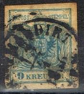Sello 9 Kreuzer Azul, Imperio Astrohungaro 1950, Yvert Num 5 º - 1850-1918 Imperio