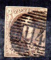 Sello Nº 3 Belgica - 1849-1850 Medallones (3/5)