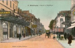 (105) CPA  Montluçon Rue De La Republique    (Bon état) - Montlucon