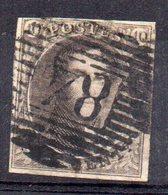 Sello Nº 1 Belgica - 1849 Hombreras
