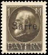 * SAAR. 7 1/2p. Vert + 1m. Brun. 2 Valeurs. RB.(cote : 107) - Sarre