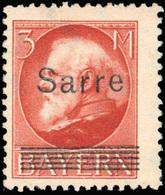 * SAAR. 2m. Violet + 5m. Rouge. 2 Valeurs. TB.(cote : 290) - Sarre