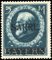 * SAAR. 5m. Bleu. Bon Centrage. TB.(cote : 1160) - Sarre