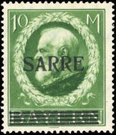 * SAAR. 10m. Vert-jaune. TB.(cote : 210) - Sarre