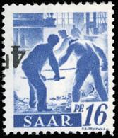 ** SAAR. 4Fr. Sur 16p. Outremer. Surcharge Renversée Sans Barre. TB.(cote : 0) - Sarre