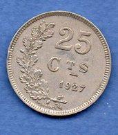 Luxembourg --   25 Centimes 1927  -  Km # 37 -  état  TTB - Luxembourg
