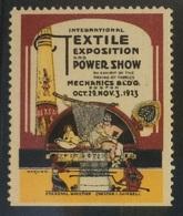 USA 1923 Vignette Cinderella - Boston Textile Exposition And Power Show - Erinnophilie