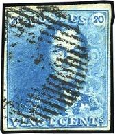 O 20c. Bleu Clair. Obl. Légère. B.(cote : 0) - Belgique