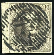 O 10c. Brun. Obl. Bord De Feuille. B.(cote : 0) - Belgique