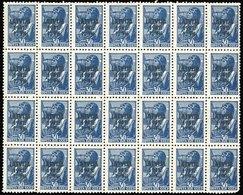 ** Occupation Allemande N°5. 30k. Bleu. Bloc De 28. SUP.(cote : 0) - Lettonie