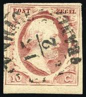 O 10c. Rose. 2 Pièces De Nuances Différentes. B.(cote : 0) - Pays-Bas
