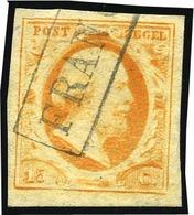O 15c. Orange. Marges égales. Obl. Légère. B.(cote : 165) - Pays-Bas