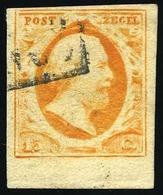 O 15c. Orange. Bas De Feuille. B.(cote : 165) - Pays-Bas