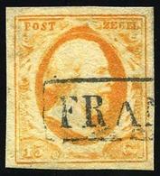 O 15c. Orange. Obl. B.(cote : 165) - Pays-Bas