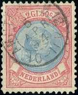 O 2 1/2 G. Carmin Et Outremer. TB.(cote : 180) - Pays-Bas
