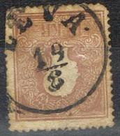 Sello 10 Kreuzer Castaño, Imperio Astrohungaro 1958, Fechador LEVA (Levice),  Yvert Num 15 º - 1850-1918 Imperio