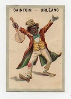 CHROMO Saintoin Frères Clown Noir Musique Musicien Banjo - Unclassified