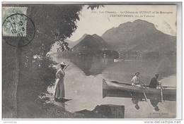 74 - CANOTAGE LAC D'ANNECY / LE CHATEAU DE DUINGT ET LES MONTAGNES D'ENTREVERNES - Duingt