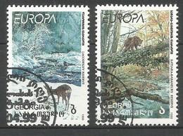Georgien 1999  Mi.Nr. 312 / 313 , EUROPA CEPT - Natur- Und Nationalparks - Gestempelt / Fine Used / (o) - Europa-CEPT