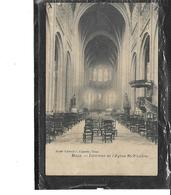"""Europe-Belgique-MONS-Une Vue De L'Interieur De L'Eglise """"Saint-WANDRU* - Mons"""