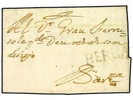 SPAIN: PREPHILATELIC MARKS  DP05 CATALUÑA - ...-1850 Voorfilatelie