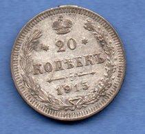 Russie --  20 Kopeks 1915  -  Km # 22a1 -  état  TTB - Russia