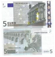 MALTA 5 €  Trichet F E009 Fds Unc Cod.€.204 - EURO