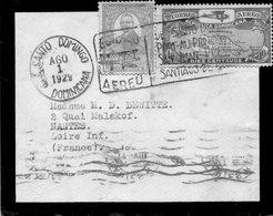 Env.de Santo Domingo-1929 Avec Flamme Par Avion,pour Nantes - Dominican Republic