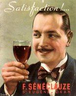 Tarifs 1939 Des Vins Sénéclauze - Publicités
