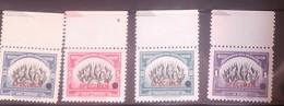 O) 1940 ECUADOR, SPECIMEN PUNCH PROOF, PAN AMERICAN UNION - SCT 394 -397 - FLAGS OF THE AMERICAN REPUBLIC, MNH - Ecuador
