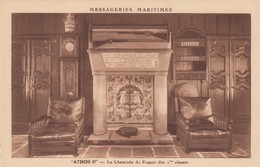 "MESSAGERIES MARITIMES ""ATHOS II"" - La Cheminee Du Fumoir 1 Class , 1930s - Paquebots"